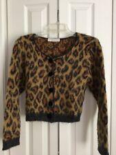 Jp Berringer mohair cropped cardigan sweater, leopard print, S