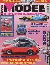 Modell Fahrzeug 2005 5/05 Magazin TVR Sagaris Hanomag Kurier Porsche 911 SC Auto