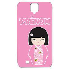 Coque 3 D Téléphone Personnalisée - SAMSUNG S4 -  Kokeshi poupée japonaise rose