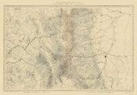Topo Map - Colorado North Central Sheet - USGS 1881 - 23.00 x 33.49