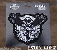 Harley Davidson Authentic Patch - Winged Crest - XL Emblem Badge