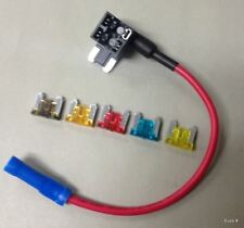New listing Add-A-Circuit Blade Atm Low Profile Mini Fuse Holder Fuse Tap + 5 Fuse Fh143 #gt