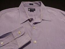 J. Crew Mens XL Long Sleeve Button-Front 100% Cotton Blue Striped Shirt
