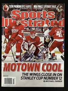 Chris Osgood Signed Sports Illustrated 6/8/09 No Label Hockey Red Wings Auto JSA