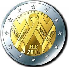 2 Euro commemorative 2014 France - Frankreich* AIDS SIDA