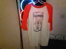 New listing 80s Medium Vtg University Illinois Fighting Illini Beer Can jersey t-shirt soft