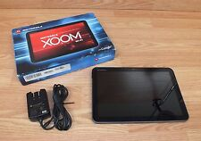 Genuine Motorola XOOM Black 10.1' 32 GB Tablet With Power Supply Bundle **READ**