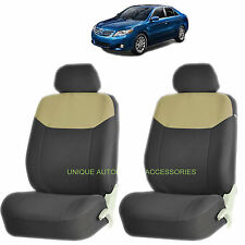 BEIGE ELEGANT AIRBAG COMPATIBLE LOWBACK SEAT COVER for TOYOTA CAMRY COROLLA