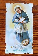 ANTIQUE RARE DIE CUT HOLY CARD ST ALPHONSE OF LIGUORI
