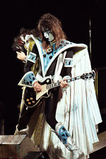 """12""""*8"""" concert photo of Ace Frehley of Kiss playing at Wembley in 1980"""