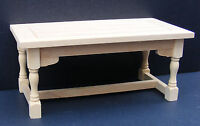 1:12 Scale Natural Finish Wooden Kitchen Table Tumdee Dolls House Furniture 002