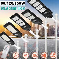 950000Lm Solar Street Light Led Ip67 Motion Sensor Road Spotlight+Remote+Pole