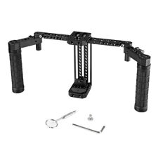"""CAMVATE Adjustable 7"""" Monitor Cage Rig Dual Rubber Handgrip For SmallHD 700 Seri"""
