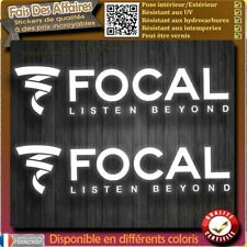 2 stickers autocollant Focal audio car tuning racing sponsor decal sono enceinte