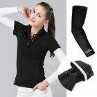 Cooling Arm Elbow Sports Football Cycling Protection Sleeve Cover UV Sun Black