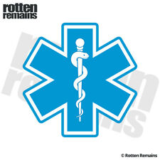Star of Life Decal Sticker Blue Paramedic EMT EMS Rescue Nurse Vinyl EMV