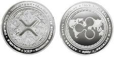 1.2 oz Physical Ripple XRP Iron Coin Token Round Chip Crypto Silver Color 44mm