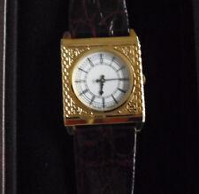 Vintage Franklin Mint Westminster Big Ben Tower Watch 24KT Plated NIB