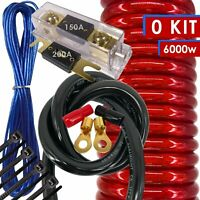 NEW X-Brand 0 Gauge Amp Kit Amplifier Install Wiring HOT 0 Ga Wire RED - 6000W