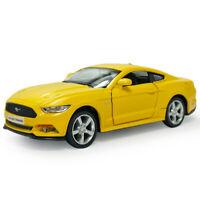 1:36 Ford Mustang 2015 Die Cast Modellauto Auto Spielzeug Sammlung Mattgelb