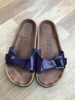 BIRKENSTOCKS purple sandals UK 5 38 patent SUMMER Relax 245 Holiday