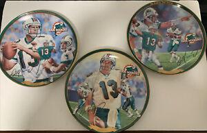 3 Plates - The Bradford Exchange Dan Marino Commemorative Edition 2000 NFL
