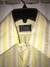 73145ea1 Vintage 1960's Towncraft Penn-Prest Shirt Men's M Yellow Stripe Short Sleeve