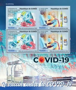 Guinea Medical Stamps 2020 MNH Fight Against Corona Vaccines Health 4v MS + IMPF
