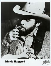 "Merle Haggard (Deceased) ""Okie from Muskogee"" RARE EPIC PROMO Signed RP 8x10!!!"