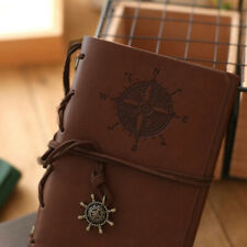Vintage Classic Retro Leather Journal Travel Notepad Notebook Diary Brown