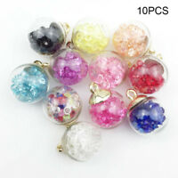 10Pcs Christmas Crystal Glass Ball Charms Jewelry Earrings Necklace Decor Tools