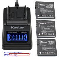 Kastar Battery LCD Quick Charger for Original Panasonic DMW-BCE10E DMW-BCE10PP
