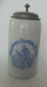 Humpen Bierkrug Maßkrug Franziskaner Leistbräu München u 1900 Decke Sammelkrüge