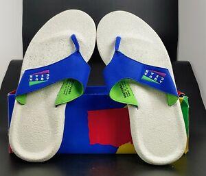 NOS Nike Aqua Strap Aqua Gear Light Blue and White Retro Slide Sandals Size 8