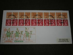 1979 GB Stamps CHRISTMAS STAMP BOOKLET PHILART First Day Cover SCARBOROUGH CDS