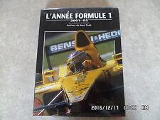 LIVRE L'ANNEE FORMULE 1 2001-2002 avec jaquette  G84