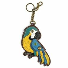 New Chala Purse Bag Charm Clip On Key Ring Fob BLUE PARROT Coin Purse gift