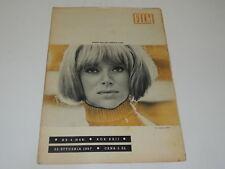 Film 4/1967 polish magazine Mireille Darc, Joanna Shimkus, Francoise Dorleac