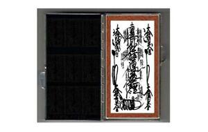NICHIREN SHU OMAMORI SHUTEI GOHONZON In METALLIC MINI TRAVEL ALTAR CASE