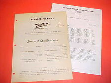1948 FORD PICKUP TRUCK F-1 2 3 PANEL DELIVERY ZENITH AM RADIO SERVICE MANUAL 48