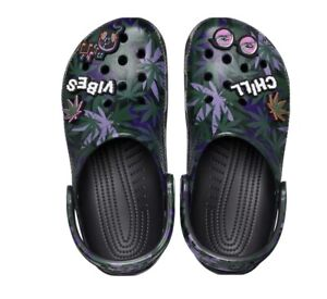 Crocs 420 Holiday Limited Release Sold Out Jibbitz Hemp US Men's 12