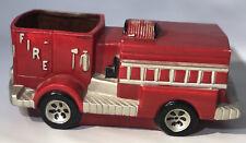 Fire Truck Vintage Red Ceramic Garden Planter Plant Pot