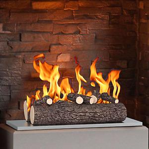 "New Regal Flame 5 Piece 16"" Ceramic Wood Gas Fireplace Logs - Oak"