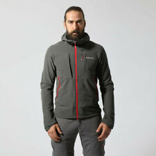 Montane Mens Dyno Stretch Outdoor Jacket Top - Grey Sports Outdoors Full Zip