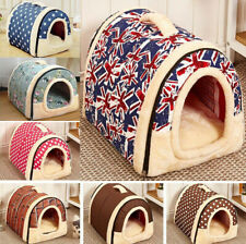 Pet Dog House Short Plush Cat Bed Kennel Winter Soft Bed Puppy Warm Cave Cushion