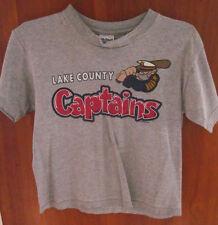 LAKE COUNTY CAPTAINS logo baseball tee OHIO youth med T shirt Cleveland Indians