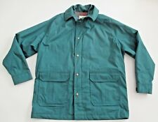 Vintage Men's WOOLRICH Green Plaid Lined Barn Coat Jacket Parka  Size Large