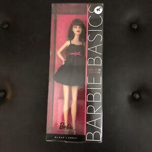 Barbie Basics Black Label Model 01 Collection 1.5 BRUNETTE LBD DRESS NEW NRFB