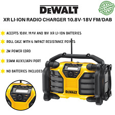 Dewalt XR DAB and Charger Radio Corded/Cordless DAB+/FM Radio Charger AC/DC