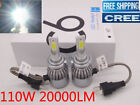 CREE H7 110W 20000Lm LED Car Headlight Conversion Globes Bulb Beam Kit H4 H1 H11
